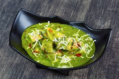 Palak Paneer Pune, India. Dish with Palak Paneer Pune, India stock photography