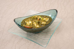 Palak paneer, spinach and cheese curry Stock Image