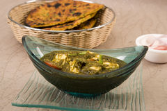 Palak Paneer or Spinach and Cheese Stock Images