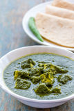 Palak Paneer. / Spinach and Cottage Cheese Curry - Popular Indian Dish stock photography
