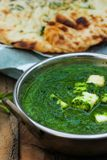 Palak paneer spinach Curry Indian Food Stock Photography