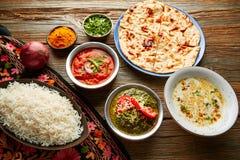 Palak Panner and Chicken Tikka Masala indian Stock Images