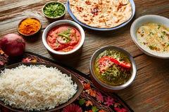 Palak Panner and Chicken Tikka Masala indian Royalty Free Stock Images