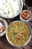 Palak tuvar dal with rice from India Royalty Free Stock Photo