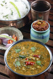 Palak tuvar dal is a spicy spinach and lentil preparation Stock Photography