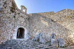 Palamidi城堡在Nafplio,希腊 免版税图库摄影