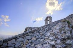 Palamidi城堡在Nafplio,希腊 库存图片
