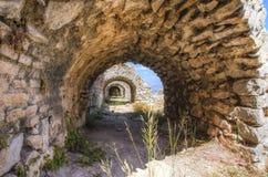 Palamidi城堡在Nafplio,希腊 免版税库存照片