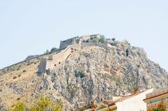 Palamidi城堡在Nafplio 库存图片