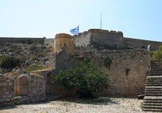 Palamidi堡垒在Nafplion,希腊 免版税库存照片