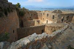 Palamidi堡垒在Nafplion,希腊 免版税库存图片