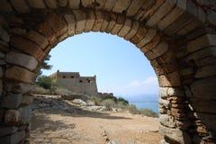 Palamidi堡垒在Nafplion,希腊 图库摄影