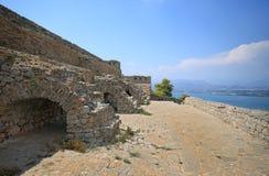 Palamidi堡垒在Nafplion,希腊 库存图片