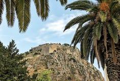 Palamidi堡垒, Nafplion市,希腊 库存图片