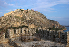 Palamidi堡垒, nafplion,希腊 免版税图库摄影