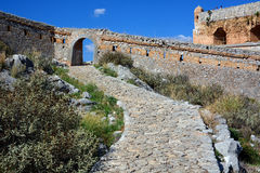 Palamidi Castle στο κέντρο Nafplion, μια ελληνική πόλη στη χερσόνησο της Πελοποννήσου Στοκ Φωτογραφίες