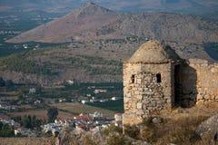 Palamidi castle. View of Palamidi castle and Nafplio city, Peloponnese, Greece royalty free stock image
