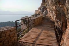Palamidi Castle Bridge Royalty Free Stock Photography