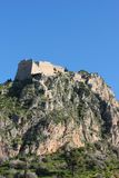 Palamidi castle on the hill above Nafplio city in Greece. Europe stock image
