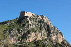Palamidi castle on the hill above Nafplio city in Greece. Europe stock photos