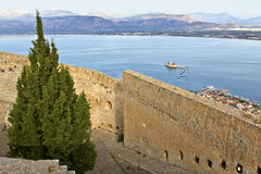 Palamidi castle at Nafplio city, Greece Royalty Free Stock Images