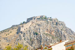 Palamidi castle in Nafplio Stock Image