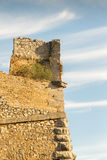 Palamidi castle at Nafplio Greece against the sky. Royalty Free Stock Images