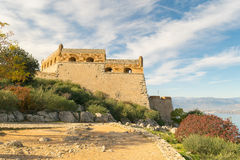 Palamidi castle at Nafplio in Greece landscape. Stock Image
