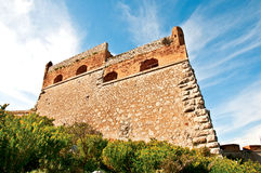 Palamidi castle in Nafplio. Part of the Palamidi castle in Nafplio Stock Photography