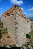 Palamidi Castle in Nafplion center, a greek town at Peloponnese peninsula. Stock Photos