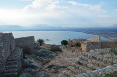 Palamidi castle in Nafplion ,Greece Royalty Free Stock Image