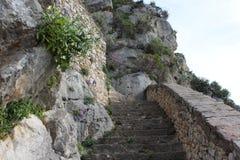 Palamidi fästning ovanför Napflio, Grekland Fotografering för Bildbyråer