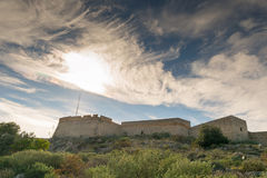 Palamidi fort at Nafplio Greece against a dramatic sky. Stock Images
