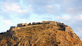 Palamidi fortress, nafplio royalty free stock photo