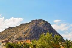 The Palamidi fortress. The fortress of Palamidi in Nafplio, Greece royalty free stock photo