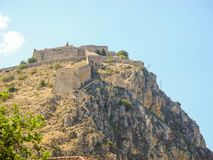 The Palamidi fortress. The fortress of Palamidi in Nafplio, Greece royalty free stock images