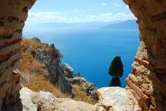 Palamidi fortress, nafplio, greece royalty free stock photography