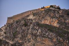Palamidi fortress, Nafplio, Greece. Great fortress of Palamidi in Nafplion, Greece during the sunset stock photo