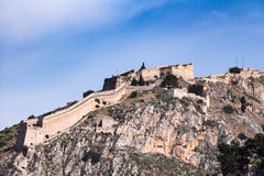 Palamidi medieval fortress, Nafplio, Greece Royalty Free Stock Images