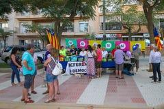 PALAMOS,卡塔龙尼亚,西班牙- 2017年8月 图库摄影