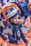 Palamos,西班牙- 2018年2月10日,传统狂欢节队伍在一个小镇Palamos,在卡塔龙尼亚,在西班牙 库存图片