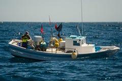 Palamos, Catalonia, may 2016: Fishing boat fishing Royalty Free Stock Photography