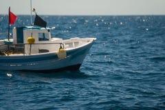 Palamos, Catalonia, may 2016: Fishing boat fishing in Palamos ba Royalty Free Stock Photo