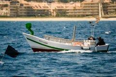 Palamos, Catalonia, may 2016: Fishing boat fishing in Palamos ba Stock Photography