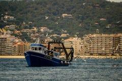 Palamos, Catalonia, may 2016: Fishing boat fishing trawls Stock Photo