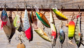 Palan de pêche Photos libres de droits