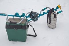 Palan pour la pêche de l'hiver photo libre de droits