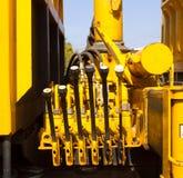 Palanca de la hidráulica Imagen de archivo libre de regalías