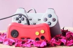 Palanca de mando de Playstation con la palanca de mando del vintage Fotografía de archivo libre de regalías