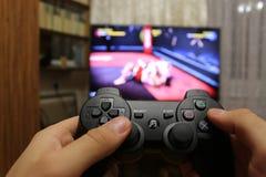 Palanca de mando para las consolas del videojuego Fotos de archivo